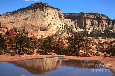 Checkerboard Mountain Utah Reflections Art Print by Adam Jewell