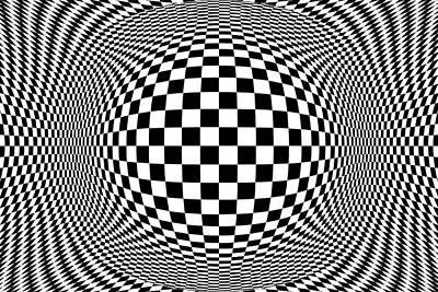 Op Art Photograph - Checkerboard Op Art by Eleanor Bortnick