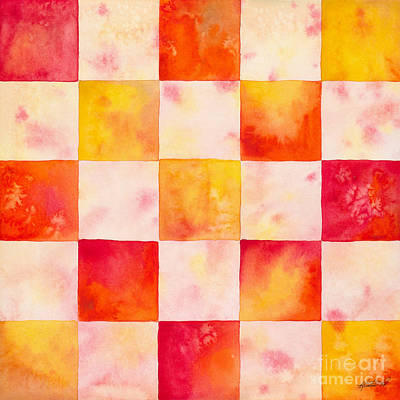 Painting - Checkerboard Watercolor by Kristen Fox
