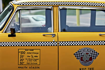Photograph - Checkercab by Mark Alesse