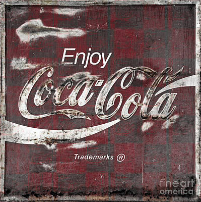 Photograph - Checkered Coca Cola Sign by John Stephens