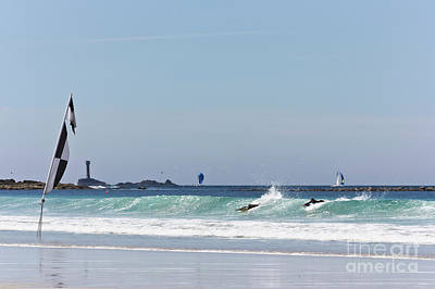 Photograph - Checkered Flag Over The Longships by Terri Waters