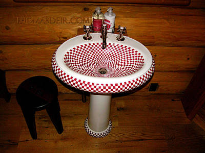 Custom Sinks Ceramic Art - Checkered Sink by Thomas Deir
