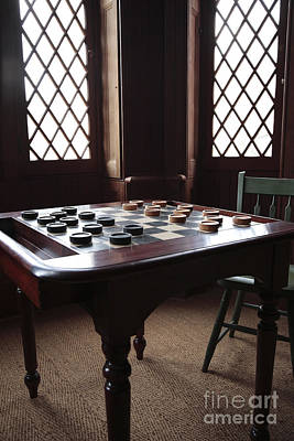 Checkers Table At The Lincoln Cottage In Washington Dc Art Print