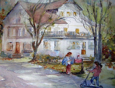 Sinatra House Painting - Checking For The Mail by Rose Sinatra