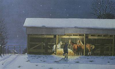 Painting - Checking On Old Friends by C Robert Follett