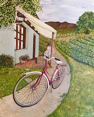 Painting - Bob Checking The Grapes by Chuck Gebhardt