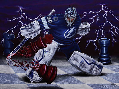 Nhl Painting - Checkmate, Bish by Marlon Huynh