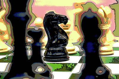 Game Piece Mixed Media - Checkmate by Charles Shoup