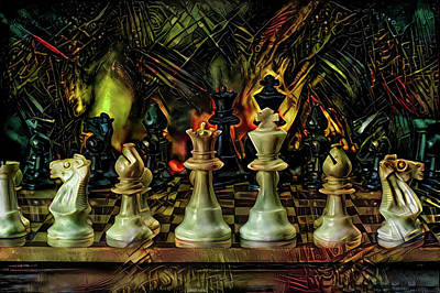 Mixed Media - Checkmate by Lilia D