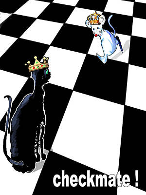 Digital Art - Checkmate by Miki De Goodaboom