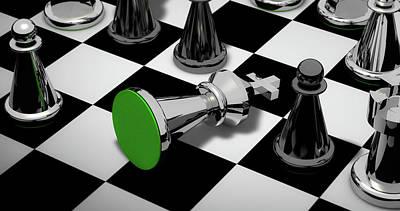 Checkmate Art Print by Piro4d