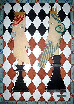 Belfast Mixed Media - Checkmate by Shay Mc Veigh