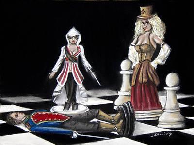 Steampunk Drawings - Checkmate by Steve Ellenburg