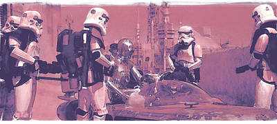 Checkpoint Art Print by Kurt Ramschissel