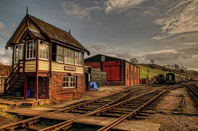 Cheddleton Signalbox And Depot Art Print