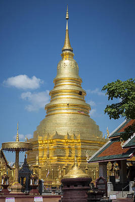 Phrathat Photograph - Chedi At Wat Phrathat Hariphunchai by George Mann