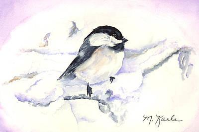 Painting - Cheeky Chickadee by Marsha Karle