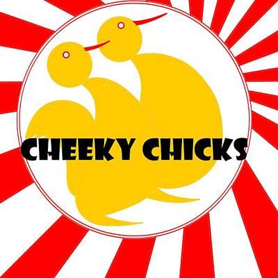 Digital Art - Cheeky Chicks by Pratyasha Nithin