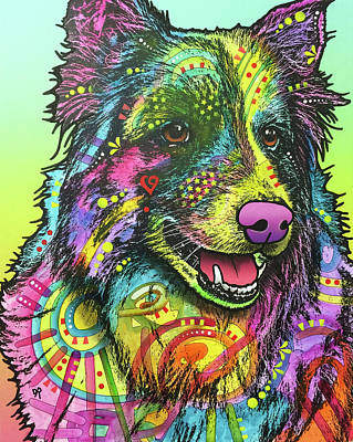 Collie Wall Art - Painting - Cheeky by Dean Russo Art