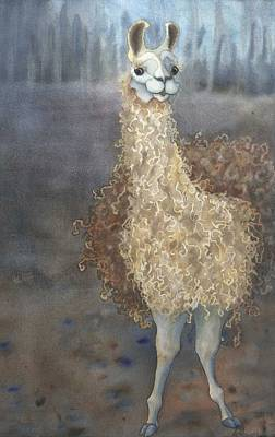 Painting - Cheeky The Llama by Anne Havard
