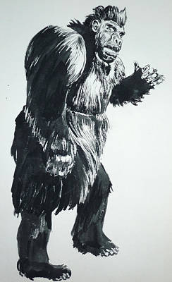 Painting - Cheela Captive Wild Woman by Bryan Bustard