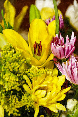 Photograph - Cheerful Bouquet Painterly by Jennifer White