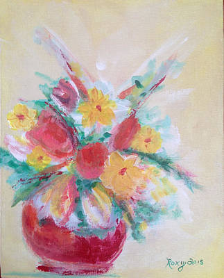 Cheerful Flower Arrangement Original by Roxy Rich