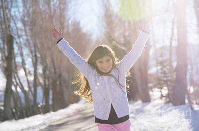 Photograph - Cheerful Girl Running by Anna Om