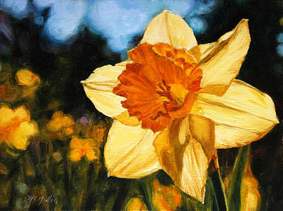 Spring Bulbs Painting - Cheerful Return by Christy Mullen