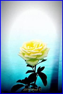 Digital Art - Cheerful Yellow Rose by Sonali Gangane