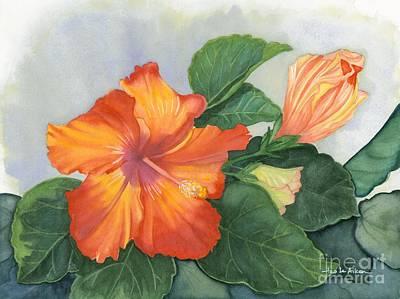 Cheerfully Yours - Hibiscus Watercolor Original