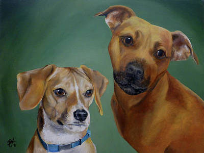 Painting - Cheerio And Diesel by Michelle Iglesias