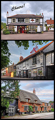 Old Inns Photograph - Cheers - Eat Drink And Be Merry - 3 Pubs by Gill Billington