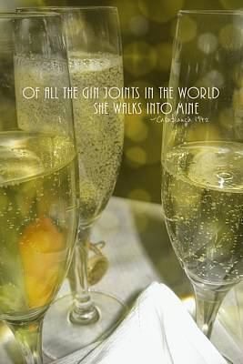 Cheers Quote Art Print by JAMART Photography