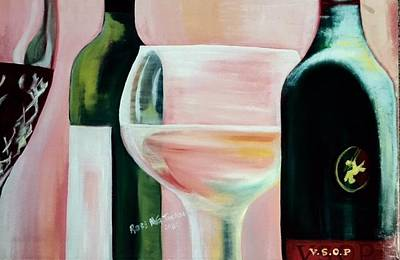 Maryland Wine Painting - Cheers by Rose Jackson