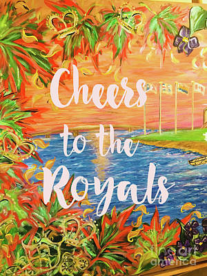Painting - Cheers To The Royals by Sheila McPhee