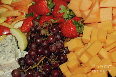 Photograph - Cheese And Fruits Platter by Olga Hamilton