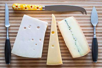 Print featuring the photograph Cheese Board by Ari Salmela