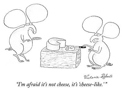 Drawing - Cheese Like by Victoria Roberts