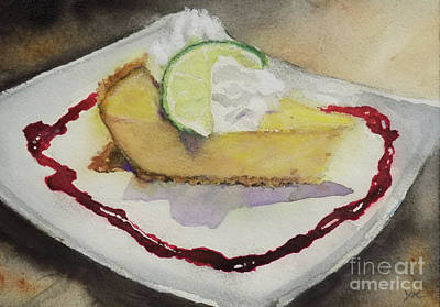 Painting - Cheesecake At Mac's by Yoshiko Mishina