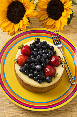 Cheesecake With Fruit Art Print by Garry Gay