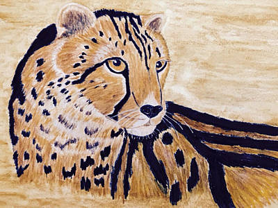 Painting - Cheeta by Donald Paczynski