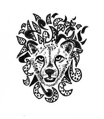 Mixed Media - Cheetah by Al Pascucci