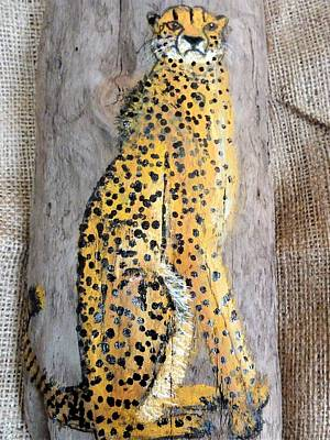 Mixed Media - Cheetah by Ann Michelle Swadener