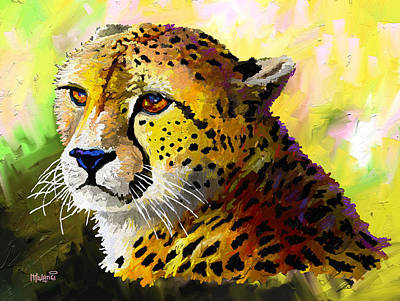 Painting - Cheetah by Anthony Mwangi