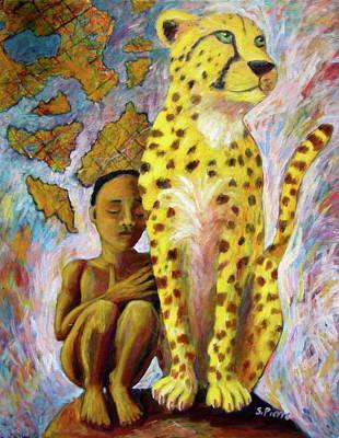 Cheetah Boy Art Print