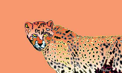 Digital Art - Cheetah by Dan McGibbon