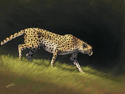 Cheetah Descent Art Print