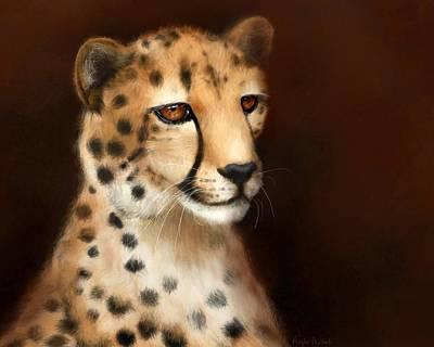 Digital Art - Cheetah Eyes by Angela Murdock